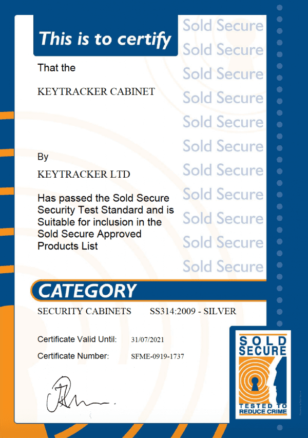 Sold Secure Certificate